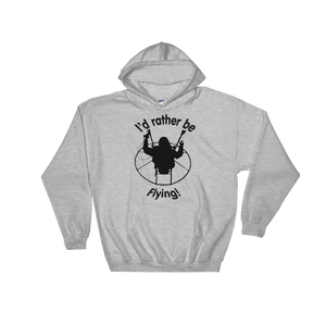 Rather be Flying - Paramotor Hoodie Sweatshirt - Hoodie -- ParAddix -- Canadian Online ParaStore for the Paramotor and Paraglider Addicts