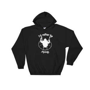 Rather be Flying (white logo) - Paramotor Hoodie Sweatshirt - Hoodie -- ParAddix -- Canadian Online ParaStore for the Paramotor and Paraglider Addicts
