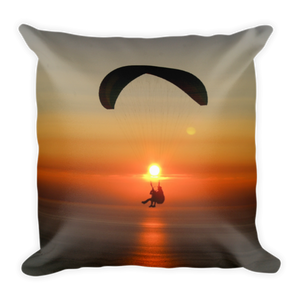 ParAddix Tandem Sunset - Paragliding Square Pillow - Pillow -- ParAddix -- Canadian Online ParaStore for the Paramotor and Paraglider Addicts