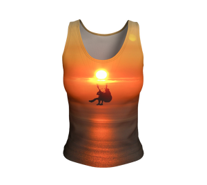 ParAddix Tandem Sunset Fitted Tank Top - Fitted Tank Top -- ParAddix -- Canadian Online ParaStore for the Paramotor and Paraglider Addicts