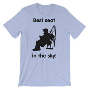 Best Seat in the Sky - Paramotor Short-Sleeve Unisex T-Shirt - T-Shirt -- ParAddix -- Canadian Online ParaStore for the Paramotor and Paraglider Addicts