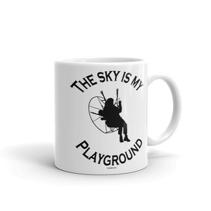The Sky is my Playground - 11 oz Paramotor Mug - Mug -- ParAddix -- Canadian Online ParaStore for the Paramotor and Paraglider Addicts