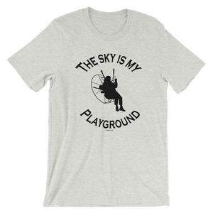 The Sky is my Playground - Paramotor Short-Sleeve Unisex T-Shirt - T-Shirt -- ParAddix -- Canadian Online ParaStore for the Paramotor and Paraglider Addicts