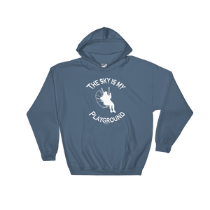 The Sky is my Playground (White Logo) - Paramotor Hoodie Sweatshirt - Hoodie -- ParAddix -- Canadian Online ParaStore for the Paramotor and Paraglider Addicts