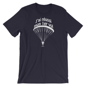 J'ai réussi mon 1er vol en paramoteur (Logo blanc) - T-Shirt Unisexe - T-Shirt -- ParAddix -- Canadian Online ParaStore for the Paramotor and Paraglider Addicts