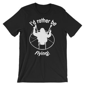 Rather be Flying (white logo) - Paramotor Short-Sleeve Unisex T-Shirt - T-Shirt -- ParAddix -- Canadian Online ParaStore for the Paramotor and Paraglider Addicts