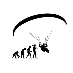 Paragliding Evolution Reflective Vinyl Car Stickers - Sticker -- ParAddix -- Canadian Online ParaStore for the Paramotor and Paraglider Addicts