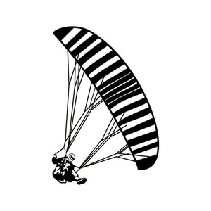 Paragliding Reflective Vinyl Car Stickers - Sticker -- ParAddix -- Canadian Online ParaStore for the Paramotor and Paraglider Addicts