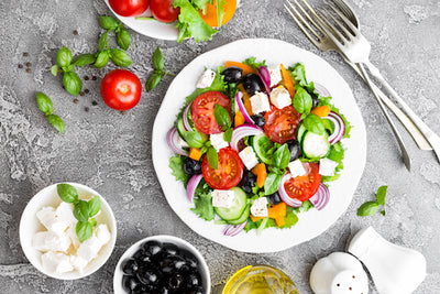 Greek Salad with Champagne Vinaigrette