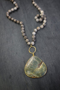 Fossil Coral & Jasper Necklace