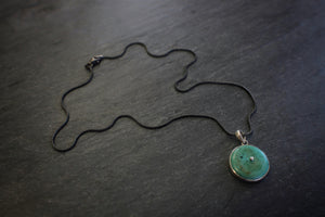 Turquoise Disc Pendant Necklace