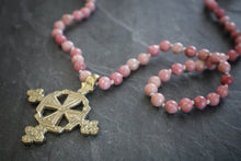 Rhodonite & Cross Necklace