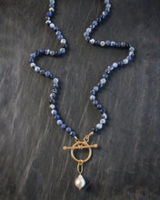 Sea and Stone Jewelry Sodalite Toggle Wrap Necklace with Baroque Pearl