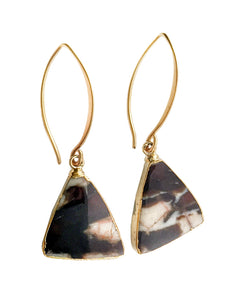 Petrified Peanut Wood Earrings