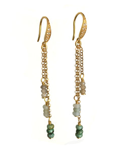 Sparkling Tiered Chain Earrings