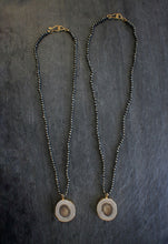 Pyrite & Antler Slice Necklace