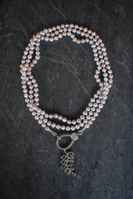 sea and stone jewelry Pave Diamond Pearl Wrap Necklace