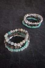 sea and stone jewelry Sea Level Gemstone Stretch Stack