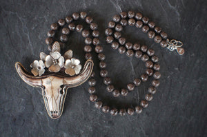 sea and stone jewelry Longhorn & Jasper Necklace