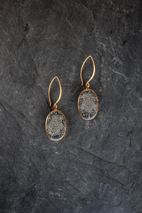 sea and stone jewelry Black Coral Drop Earrings