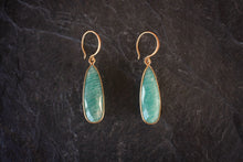 sea and stone jewelry Faceted Amazonite Drop Earrings