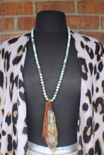 Sterling, Amazonite, & Horn Pendant Necklace