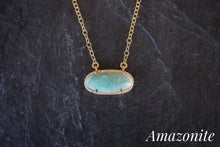 sea and stone jewelry Gemstone Station Sparkle Necklace amazonite