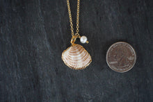 sea and stone jewelry Dainty Venus Shell Necklace