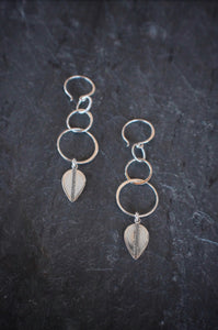 Metallic Shield Earrings