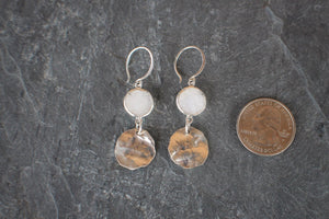 Hammered Druzy Sterling Drops