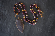 sea and stone jewelry Mookaite & Arrowhead Necklace