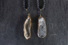 sea and stone jewelry Matte Lava & Grey Oyster