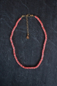 sea and stone jewelry Heshi Coral Petite Adjustable Necklace