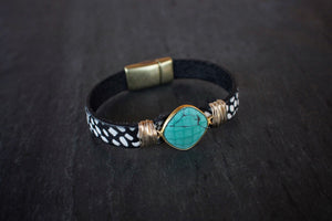 sea and stone jewelry Speckled Turquoise Bracelet
