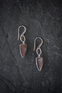 sea and stone jewelry Granulated Dagger Earrings