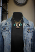 Tassel & Antler Slice Chain Necklace