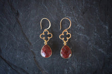 sea and stone jewelry Jasper & Vermeil Clover Earrings