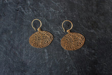 sea and stone jewelry Vermeil Fan Coral Earrings
