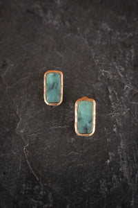 Faux Jasper Stud Earrings