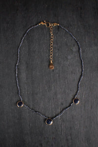 sea and stone jewelry Sapphire Station Choker