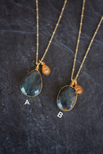 sea and stone jewelry One-of-a-kind Faceted Labradorite Necklace