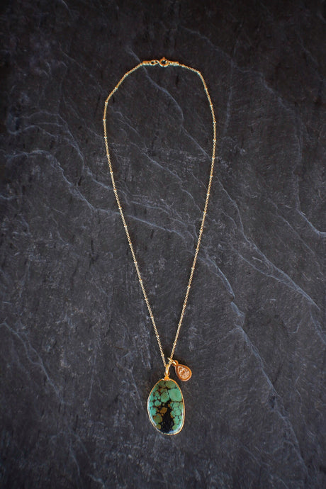 sea and stone jewelry One-of-a-kind Freeform American Turquoise Necklace