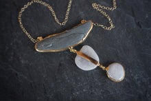 sea and stone jewelry Frosted River & Beach Pebble Necklace