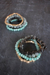 sea and stone jewelry sea and stone jewelry Tidepool Gemstone Stretch Stack