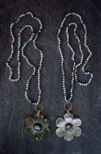 sea and stone jewelry Amazonite & Carved Flower Necklace