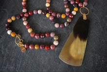 Mookaite & Carved Horn Necklace