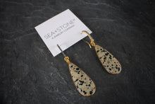 sea and atone jewelry Diamond & Dalmatian Jasper Earrings