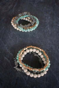 sea and stone jewelry Cabana Gemstone Stretch Stack