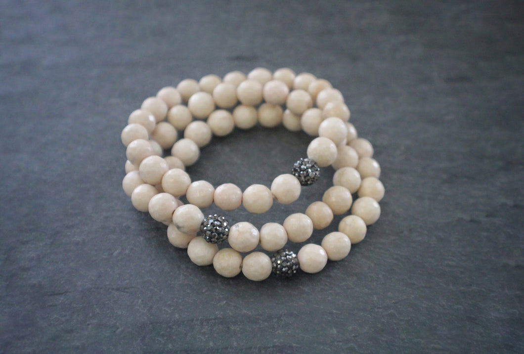 sea and stone howlite stretch bracelet