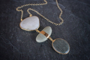 sea and stone jewelry Moss River & Beach Pebble Necklace